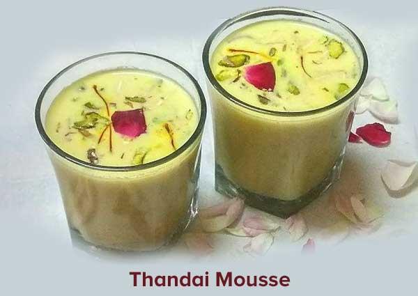 Thandai Mousse