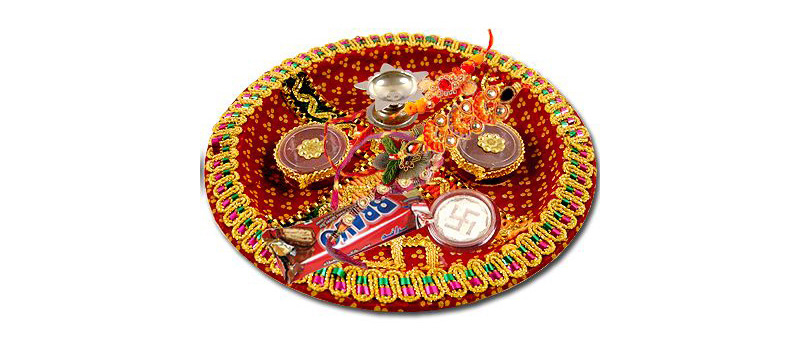 Bandhani Rakhi Thali Decoration