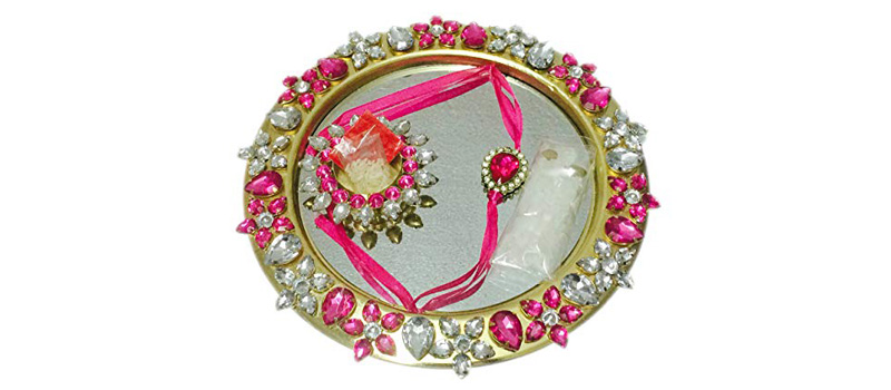 Royal Silver Rakhi Thali Decoration