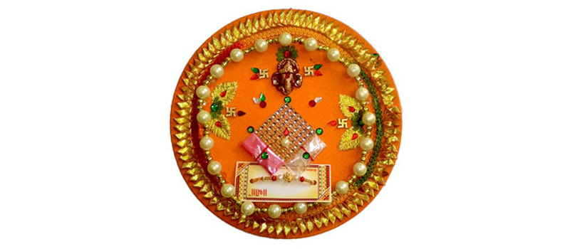 Traditional Rakhi Thali Decoration