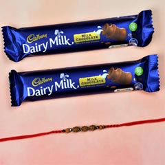 Rudraksh Rakhi With Dairymilk Chocolate