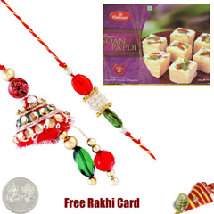 Bhaiya Bhabhi Rakhi Pair with Soan Papadi