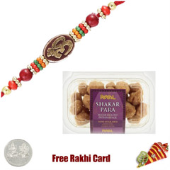 1 Rakhi with Saker Para and a Free Silver Coin
