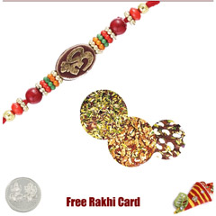 1 Rakhi with Sohn Halwa and a Free Silver Coin