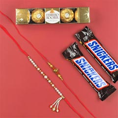 Lucky Turtle & Ladies Rakhi with Chocolates