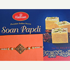 Rakhi with Delicious Soan Papdi