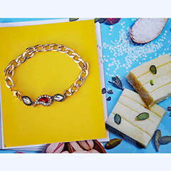 Sparkling Rakhi loaded with Sweetness