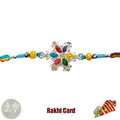 Premium Colorful Stone Bracelet  with Free Silver Coin