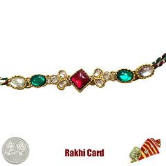 Premium Red Green Bracelet  with Free Silver Coin