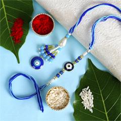 Bhaiya Bhabhi Hand Crafted Rakhi Set