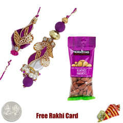 Bhaiya Bhabhi Rakhi with 50 grams Almonds