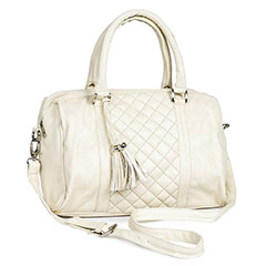 Formal White Shoulder Bag