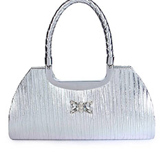 Casual Shinny Hand Bag ( Silver )