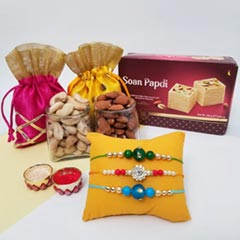 Beautiful Rakhis with Nuts & Soan