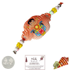 Chhota Bheem Rakhi with Free Silver Coin