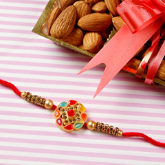 Premium Diamond Rakhi with Almond Nuts