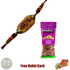 Ethnic Rakhi with 50 grams Almonds