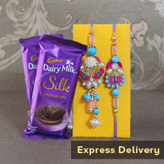 Bhaia Bhabhi Rakhi with Silk
