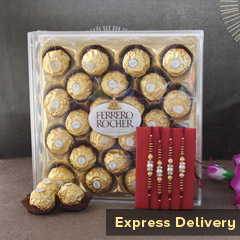 Sweet N Magical Rakhi Combo