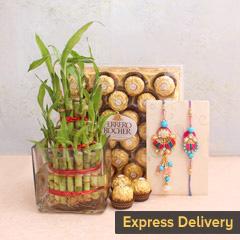 Eye-catchy Bhaiya-Bhabhi Rakhi combo
