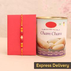Striking Rakhi with Chamcham