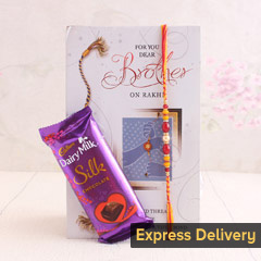 Heartiest Rakhi gift combo with card