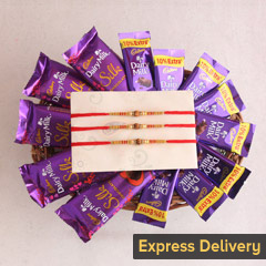 Rakhi with chocolaty surprise