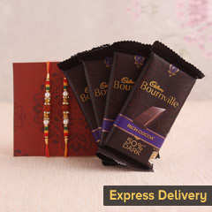 Rakhi with Bourneville gift hamper