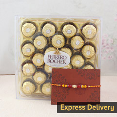 Rakhi surprise with Ferrero Rocher