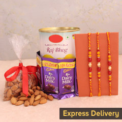 Endearing Set of 3 Rakhi Combo
