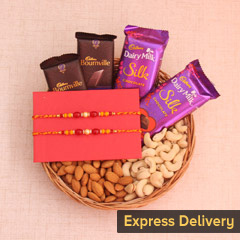 Nutty Chocolate Rakhi Hamper