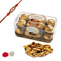 Rakhi with Ferrero and Badam