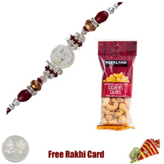 Jewelled Rakhi with 50 grams Cashews