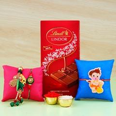 Family Rakhi Set Hamper with Toffiee Chocolates
