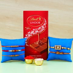 Family Rakhi set with Lindt Finest Swiss Chocolates