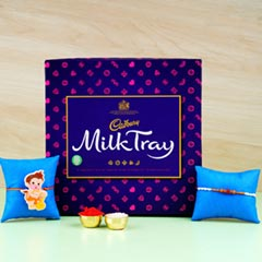 Amazing Family Rakhi Milk Chocolate Hamper