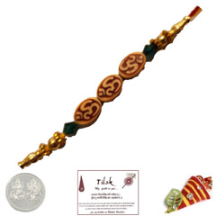 Triple Om Rakhi with Free Silver Coin