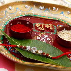 Crystal Clear Diamond Puja Thali Hamper