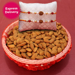 Almond Basket with Alluring Rakhis