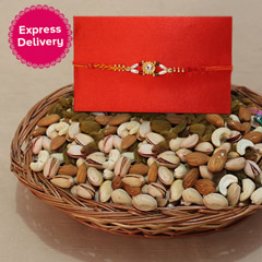 Stunning Rakhi with Assorted Dry Fruits