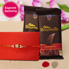 Rakhi with Cranberry Bouenville