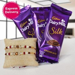 Dairymilk Silk with Rakhis