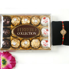 Elegant Diamond Rakhi with Ferrero Rocher