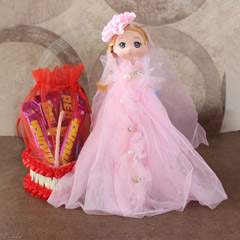 Cute Doll  with Chocolates