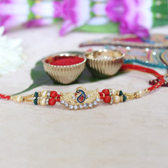 Traditional Peacock Rakhi