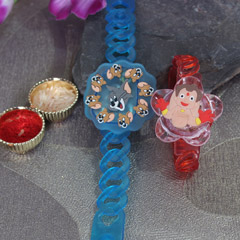 Cartoon Rakhi Pair with Light