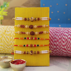 Lovely Set of 6 Rakhis