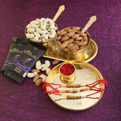 Traditional Rakhi Thali Combo