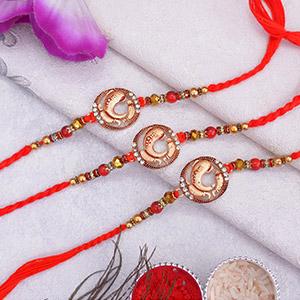 Elegant Collection of 3 Rakhi