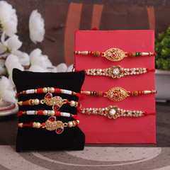 4. Multi-Colored Stones and Beaded Rakhi